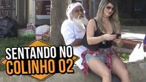 GAROTA SENTANDO NO COLINHO 02 (GIRL SITTING ON THE LAP   PRANK)