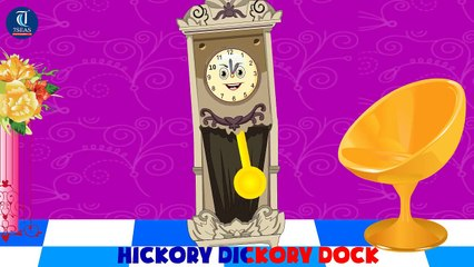 Hickory Dickory Dock Nursery Rhyme With Lyrics | Animation Video for Kids