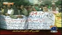 Geo News The Paramedical Staff Is Protesting For Giving Permanent Status