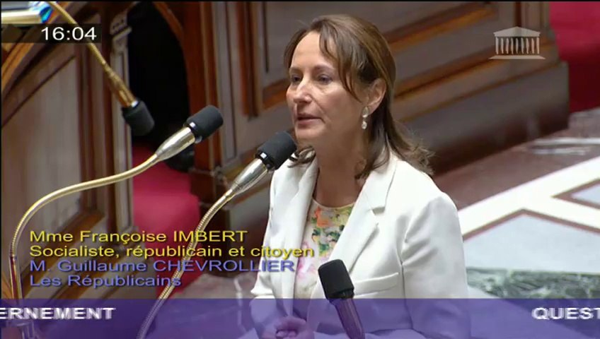 COP 21 : S. Royal répond à une question au Gouvernement