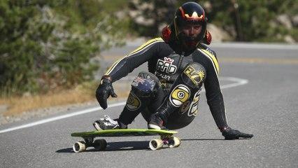 Downhill Skateboarding on Donner Pass