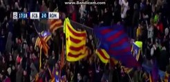Barcelona vs AS Roma 2-0 - All Goals First Half (Messi, Suarez Goals) - Champions League