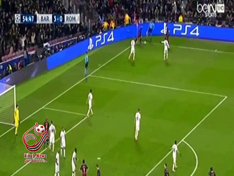 هدف برشلونه الرابع (  برشلونة - أسبانيا 4 -0 روما - إيطاليا ) دورى ابطال اوروبا