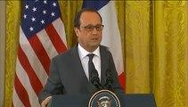 """""""Détruire Daech partout où il se trouve"""", lance Hollande après sa rencontre avec Obama"""