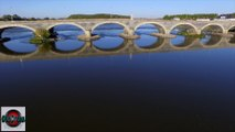 Pont de Dumnacus aux Ponts de Cé filmé par drone, Pays de La Loire, France - ©Mickael COURANT