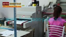 Automatic unloading screen printing machine