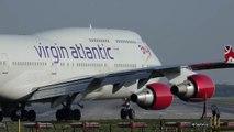 Virgin Atlantic Boeing 747 Jersey Girl Takeoff