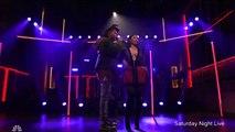 Scantily-clad Nicki Minaj performs with The Weeknd on SNL