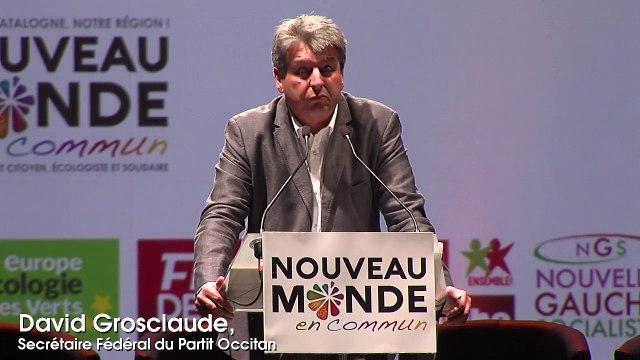 Intervention de David Grosclaude au meeting Nouveau Monde