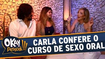 Carla Cecarello vai conhecer o curso de sexo oral