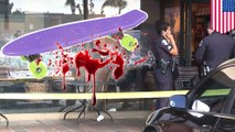 Deranged man dies after taking a fatal strike to the head from a skateboard