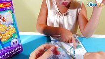 ✔ Золушка и Анастасия. Маша делает картинку из блесток. Disney Princesses Cinderella & Anastasia ✔