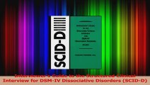 Interviewers Guide to the Structured Clinical Interview for DSMIV Dissociative Disorders Read Online