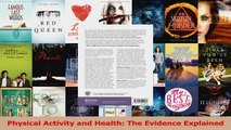Read  Physical Activity and Health The Evidence Explained Ebook Free