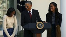 Obama tells dad jokes while pardoning Thanksgiving turkeys
