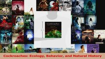 Read  Cockroaches Ecology Behavior and Natural History Ebook Free