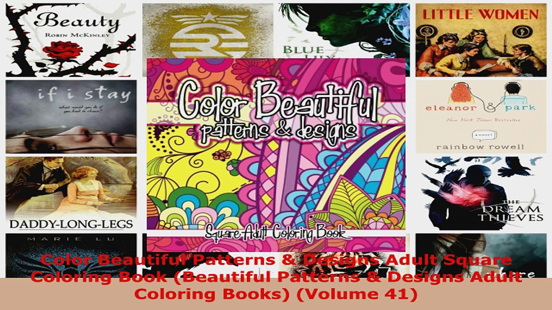 Read  Color Beautiful Patterns  Designs Adult Square Coloring Book Beautiful Patterns  Ebook Free