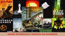 Download  Inside Architecture Interiors by Architects PDF Online