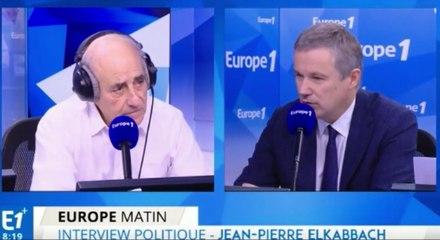 Nicolas Dupont-Aignan invité de Jean-Pierre Elkabbach sur Europe 1
