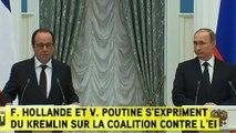 François Hollande : « les frappes seront intensifiées et feront l'objet d'un coordination»