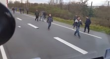 Chauffeur routier hongrois essaye de renverser des migrants à Calais