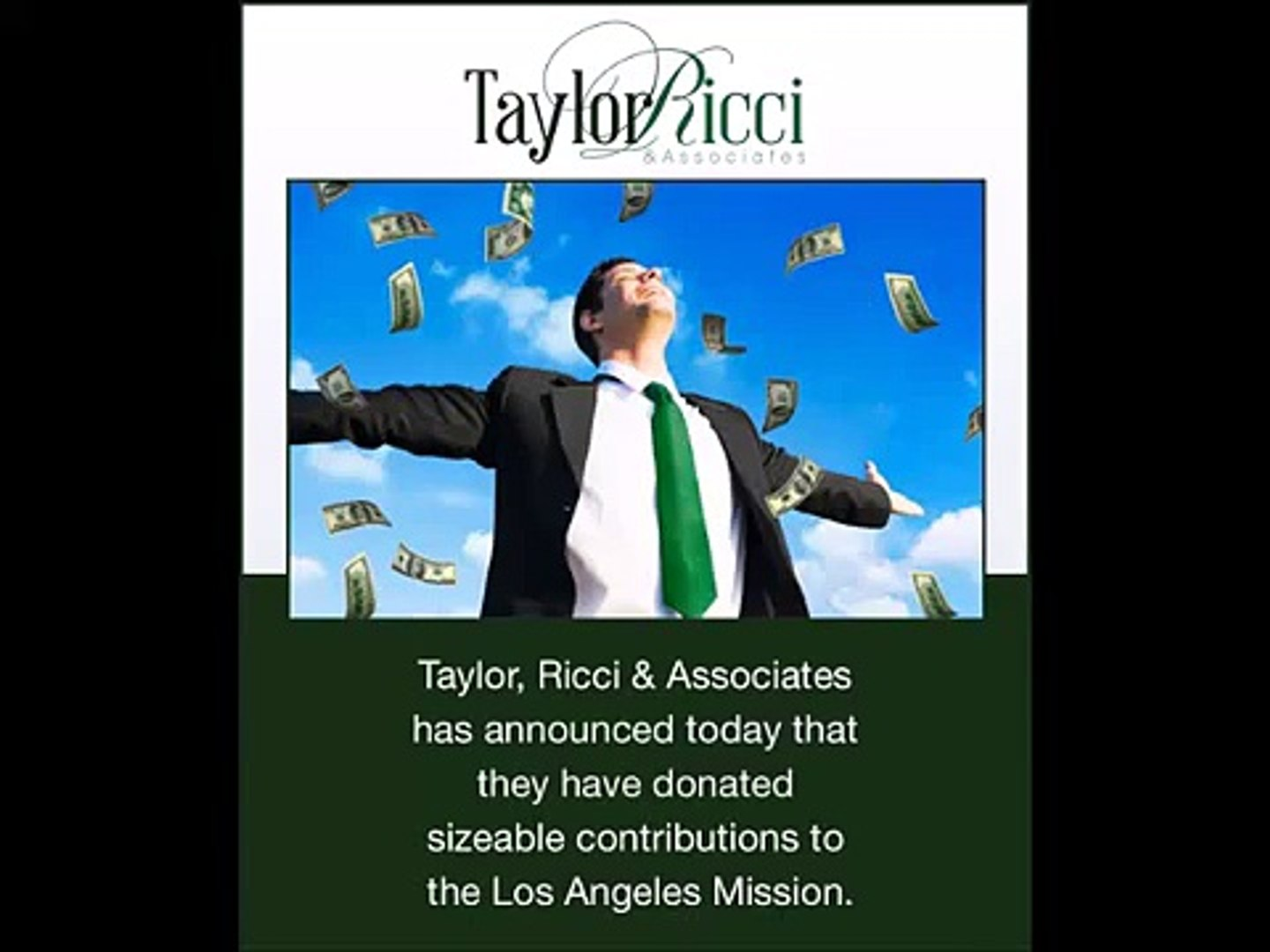 Charitable Donations to the Los Angeles Mission - Taylor Ricci And Associates