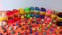 Play-Doh Surprise Eggs Disney Cars Toy Micro Drifters from Cars Cars 2 and Plane