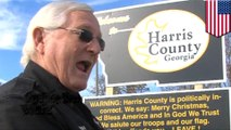Sheriff sparks debate after erecting un-PC 'welcome' sign in his town