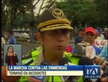 Incidentes en marcha contra las enmiendas en Guayaquil