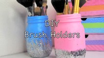 DIY: Easy Makeup Brush Holders!