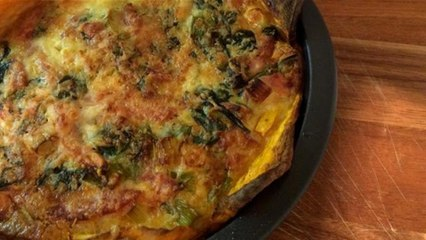 How To make a Sweet Potato Quiche In 55 Seconds