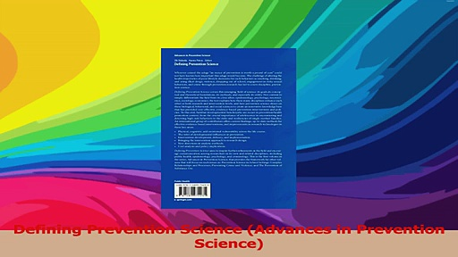 Defining Prevention Science Advances in Prevention Science Download