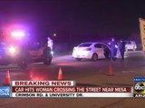Mesa collision involving pedestrian hit by car