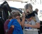 Kim Zolciak Biermann & Brielle Biermann Hide Their Faces At LAX After Lip Injections
