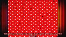 Tissu Michael Miller rouge avec des petits pois blancs