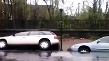 RAW Massive Landslide Swallows Cars in Baltimore Massive Sinkhole Swallows Cars in Baltimore