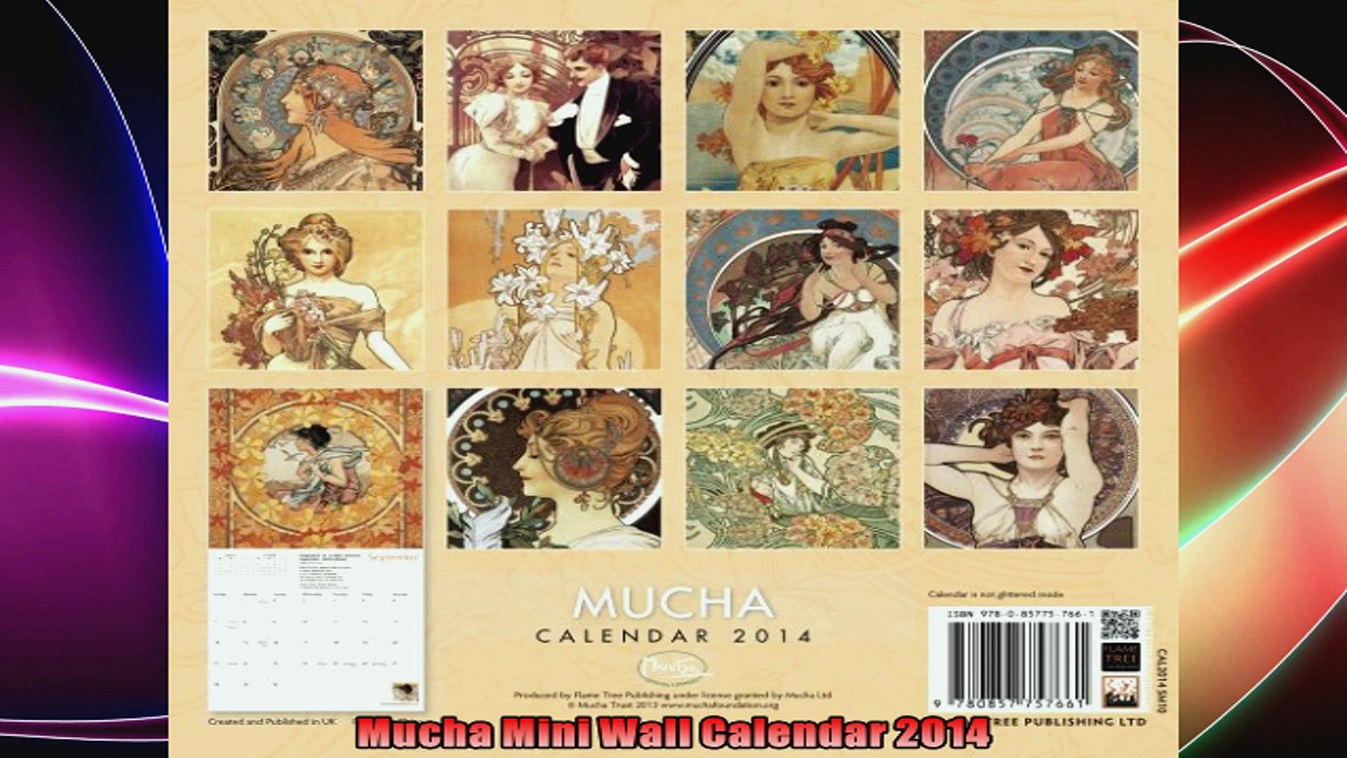 2012 Alphonse Mucha Wall Calendar