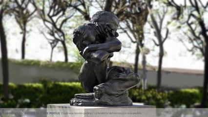 La fonte du bronze à la cire perdue - La Cariatide à l'urne
