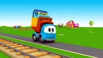 Leo Junior baut einen Bahnhof - Der kleine Zug braucht eine Bahnstation - 3D Cartoon in de