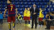 (FCB Lassa Futsal): Declaracions de Marc Carmona i Lin, abans del FCB Lassa-Palma Futsal