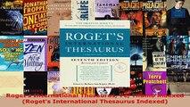 Read  Rogets International Thesaurus 7e Thumb indexed Rogets International Thesaurus Indexed Ebook Free