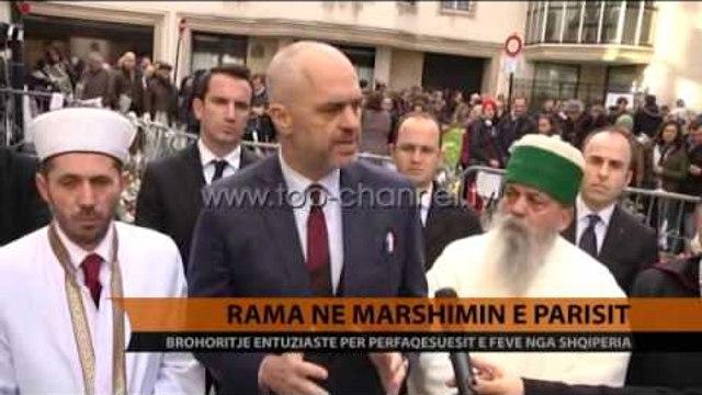 Kryeministri Rama dhe 4 kreret e komuniteteve fetare në marshim - Top Channel Albania - News - Lajme