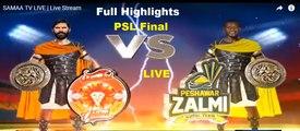 Peshawar Zalmi Vs Islamabad United - PSL Final Full Highlights - National Stadium, Karachi - March 25, 2018