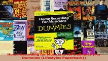 Read  Home Recording for Musicians for Dummies For Dummies Lifestyles Paperback EBooks Online