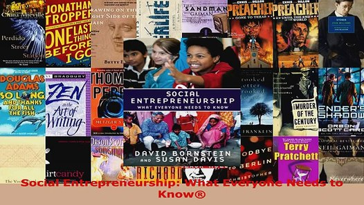 Download Social Entrepreneurship What Everyone Needs to Know PDF Free