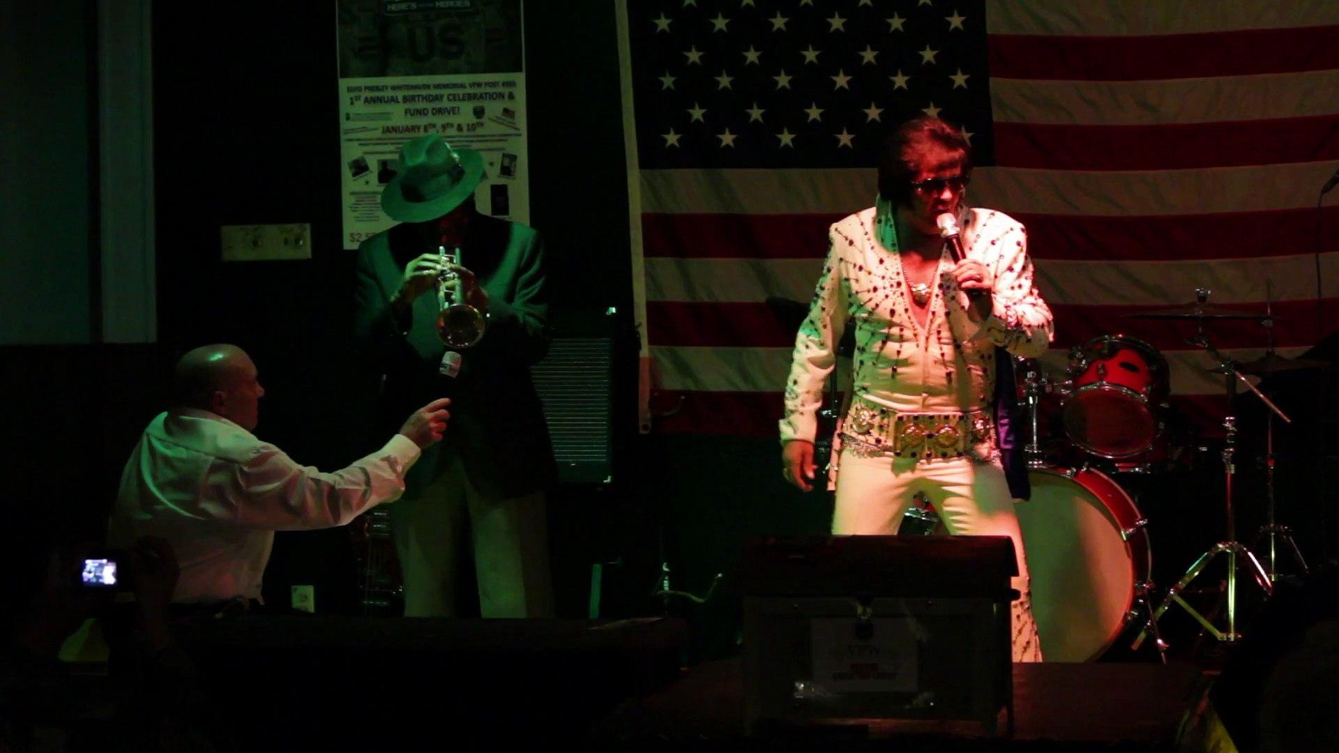 Robert Keefer and Ben Cauley perform 'Steamroller Blues' Elvis Presley Memorial VFW 2015