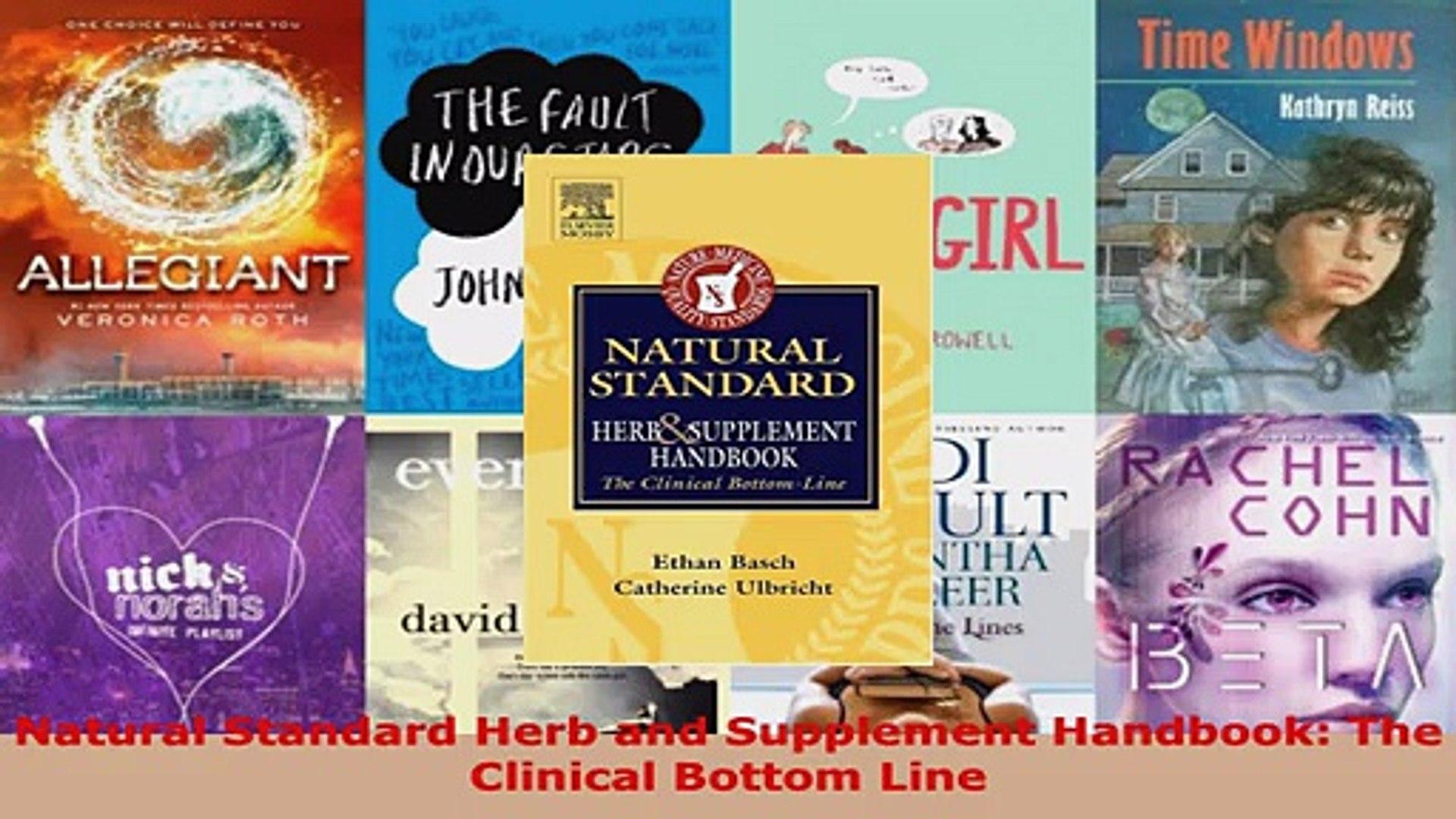 Read  Natural Standard Herb and Supplement Handbook The Clinical Bottom Line EBooks Online