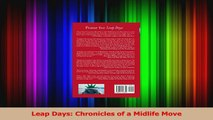 Read  Leap Days Chronicles of a Midlife Move Ebook Free