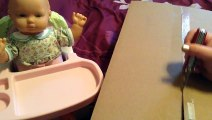 American Girl Bitty Twin and Bitty Baby Autumn Feeding Video with Babys First Classic Sof