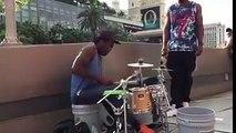 Best drummer ever - Amazing street performer